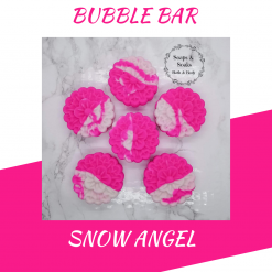 Handmade SNOW ANGEL bubble bar /solid luxury bubble bath, free postage uk ,CPSR ,vegan friendly ,cruelty free