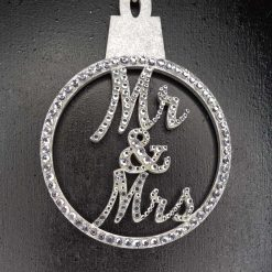 Personalised hanging Baubles Name. Mr & Mrs, Baby's 1st, Lockdown 2020 Tree decoration/ornament 12