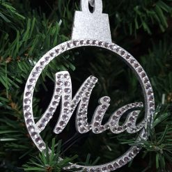 Personalised hanging Baubles Name. Mr & Mrs, Baby's 1st, Lockdown 2020 Tree decoration/ornament 10