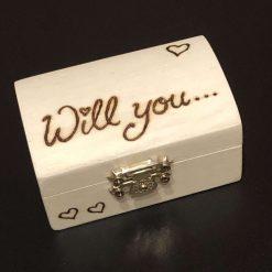 Pyrography Wedding proposal / Wedding day ring box