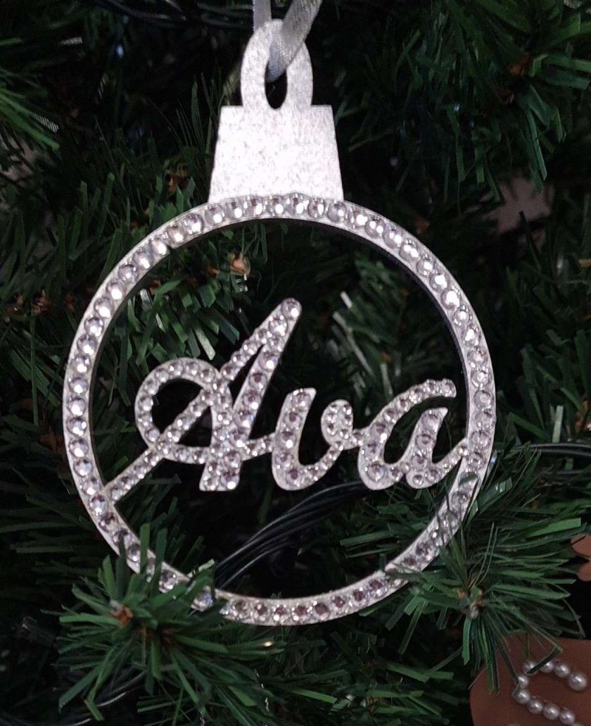Personalised hanging Baubles Name. Mr & Mrs, Baby's 1st, Lockdown 2020 Tree decoration/ornament