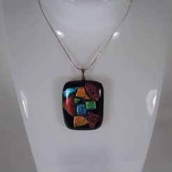 Dichroic Glass Pendant #957