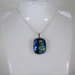 Dichroic Glass Pendant #942