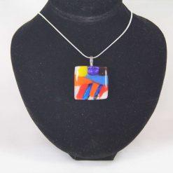Dichroic Glass Pendant #951