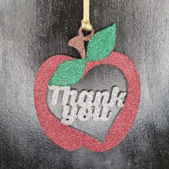 Thank you Teacher Apple, Christmas gift,School decoration/ornament