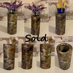 Column Vase, Brush Holder, Concrete