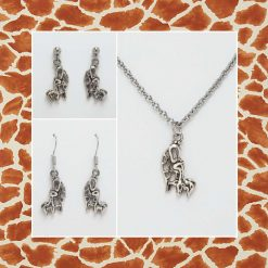 -Individually Priced- Giraffe Mother & Baby Necklace, Earrings Jewellery | Tibetan Silver Charm Birthday Christmas Mothers Mother's Day Valentine Anniversary Easter Gifts Gift Set Ideas