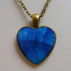 Blue Fusion Heart Pendant