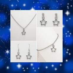 Star Necklace, Earrings, Bracelet, Jewellery   Tibetan Silver Charm Birthday Christmas Mothers Mother's Day Valentine Anniversary Easter Friendship Gift Set Ideas   Charming Gifts