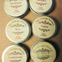 The Vicarage Kitchen Essential Oil CPSR Certified Lip Balm 15ml Tins 6 Fragrances 3