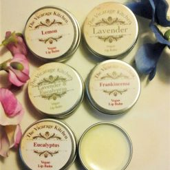 The Vicarage Kitchen Essential Oil CPSR Certified Lip Balm 15ml Tins 6 Fragrances