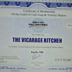 The Vicarage Kitchen CPSR Certificated Hand & Body Emollient Creams 60ml 12