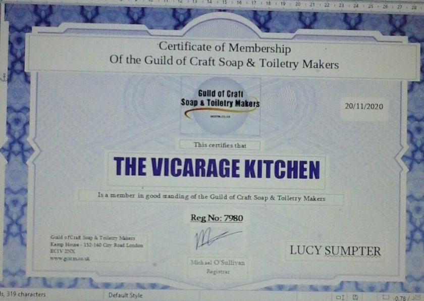 The Vicarage Kitchen CPSR Certificated Hand & Body Emollient Creams 60ml 6