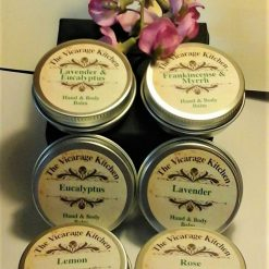 The Vicarage Kitchen Essential Oil CPSR Certificated Hand & Body Balms 30ml 6 Fragrances
