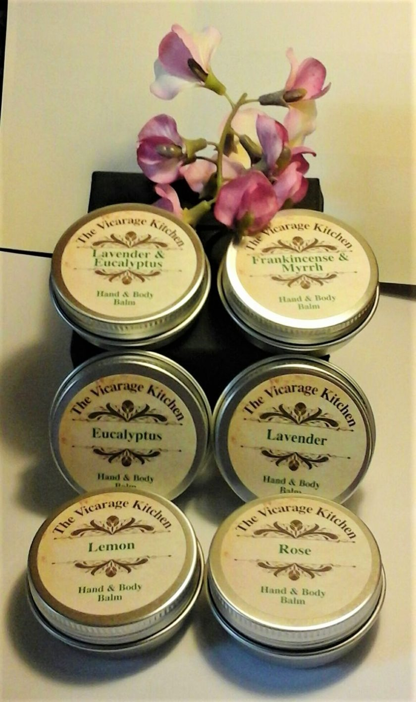 The Vicarage Kitchen Essential Oil CPSR Certificated Hand & Body Balms 30ml 6 Fragrances 1