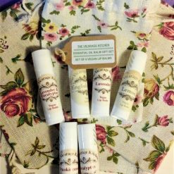 The Vicarage Kitchen Essential Oil CPSR Certificated Lip Balm x 7 Gift Set