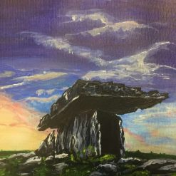 Original Acrylic Painting Dolmen Stone Co Clare Ireland