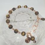 Tigerseye Bracelet - Copper Link Bracelet 1