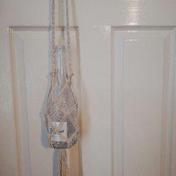 Macrame wine bottle holder