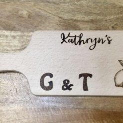 Pyrography burnt chopping board for your G and T