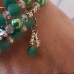 Seabreeze - Green Cracked Glass Bracelet 16