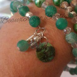 Seabreeze - Green Cracked Glass Bracelet 15