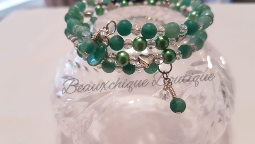 Seabreeze - Green Cracked Glass Bracelet 4