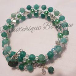 Seabreeze - Green Cracked Glass Bracelet 14