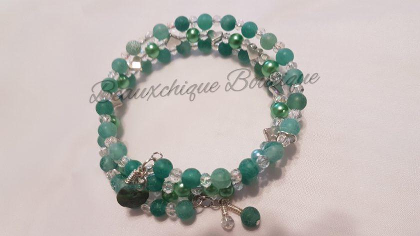 Seabreeze - Green Cracked Glass Bracelet 6