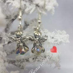 Silver and  Gold Guardian Angel Earrings 5