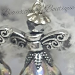 Silver and  Gold Guardian Angel Earrings 4