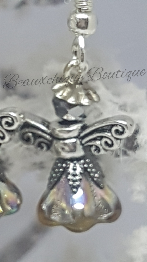 Silver and  Gold Guardian Angel Earrings 2