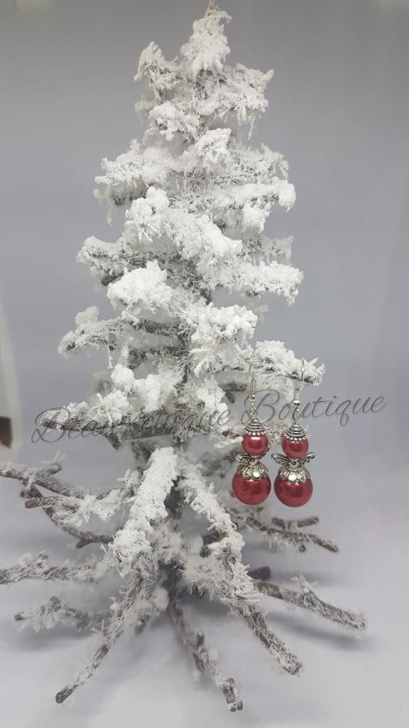 Red Angel Earrings 3