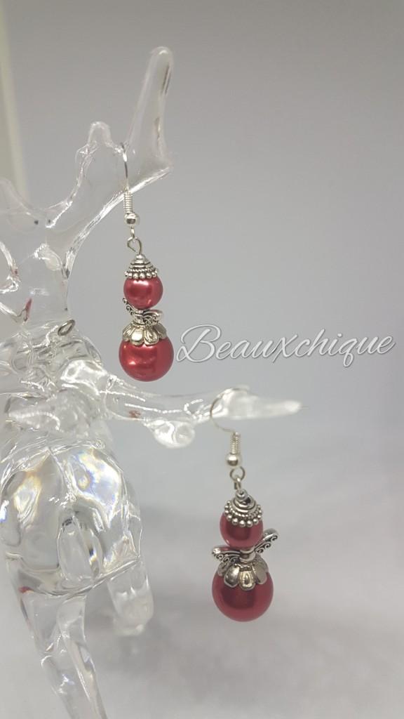 Red Angel Earrings 2