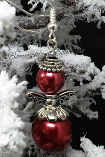 Red Angel Earrings 4