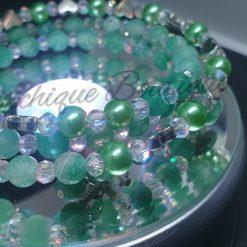 Seabreeze - Green Cracked Glass Bracelet 10
