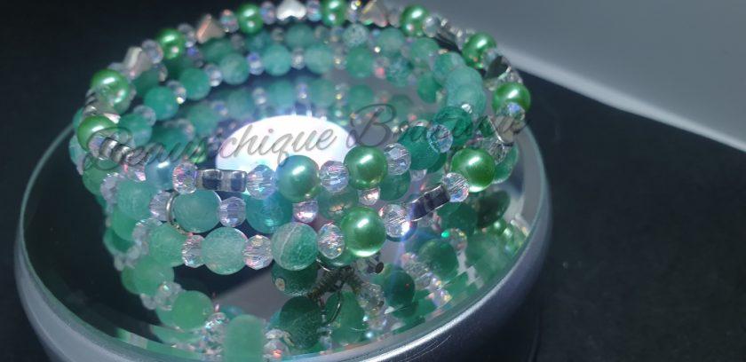 Seabreeze - Green Cracked Glass Bracelet 1