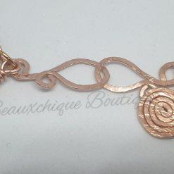 Tigerseye Bracelet - Copper Link Bracelet 8