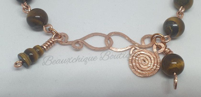 Tigerseye Bracelet - Copper Link Bracelet 4