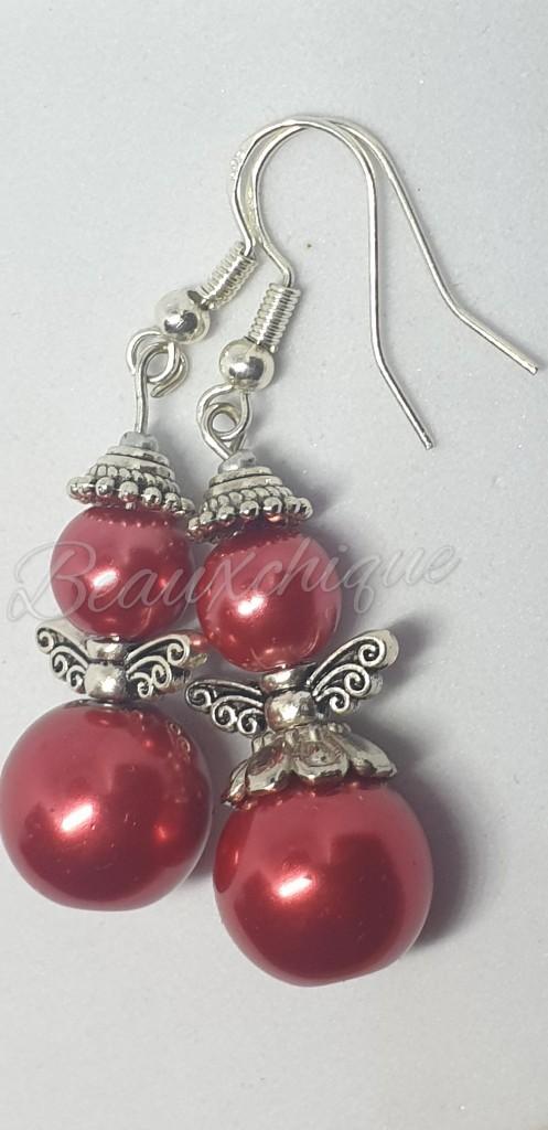 Red Angel Earrings 1