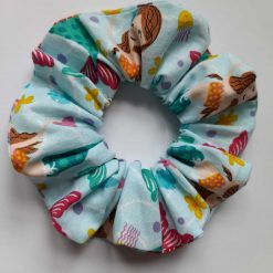 Mermaid hair scrunchie made with 100% cotton fabric