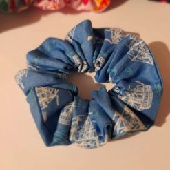 Ship hair scrunchie made from 100% cotton fabric