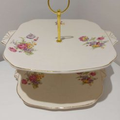 2 tier cake stand 'peace' 1