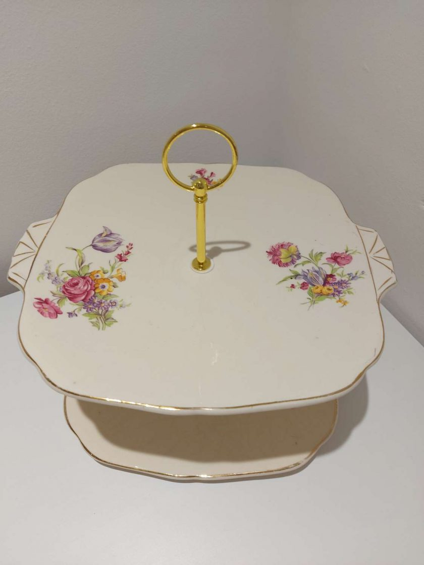 2 tier cake stand 'peace'