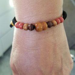 Coloured wood Gourd Bracelet