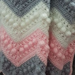 Hugs and kisses crochet baby blanket