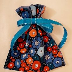 Gift bag in Seasalt blue flowers cotton fabric