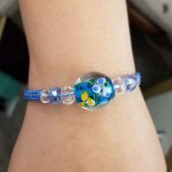 Blue Floral Bracelet 8