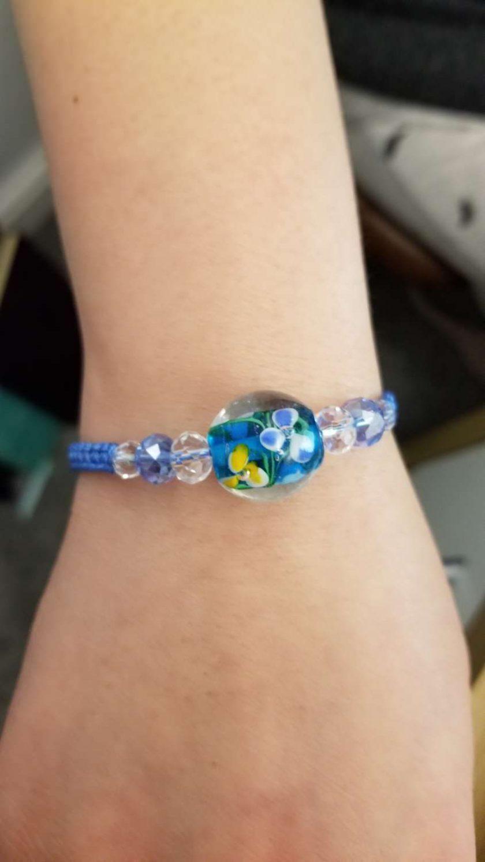 Blue Floral Bracelet 1