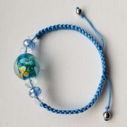Blue Floral Bracelet 6